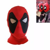 Wholesale acrylic balaclava - Marvel Deadpool Masks Superhero Balaclava Halloween Cosplay Costume X-men Hats Headgear Arrow Party Neck Hood Full Face Mask