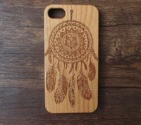 Wholesale Wood Wolf - Retro wolf engraving wooden case for iphone 6 6s 5s 6plus real wood phone cover for iphone6s plus 5.5 inch free shipping