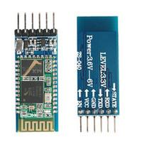 Wholesale Master Serial - Wholesale-2pcs lot HC05 HC-05 master-slave 6pin JY-MCU anti-reverse, integrated Bluetooth serial pass-through module, wireless serial