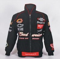 Wholesale Leopard Silk Neck - 2017 Embroidery LOGO F1 FIA NASCAR IndyCar V8 Supercar Racing Cotton Jacket for Chevrolet Racing Team Jacket