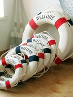 Vinyl sports wall hangings - Mediterranean Foam Home Decoration Nautical Decor Lifebuoy Life Ring Wall Hanging Showcase room special decor