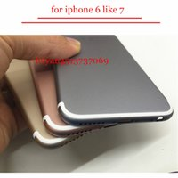 Wholesale Iphone Back Replacements - A quality Back Cover Housing For iPhone 6 6s Like 7 style Aluminum Metal Back Battery Door Cover Replacement