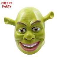 Green Shrek Latex Masks Movie Cosplay Adulto Animal Party Mask Realistico Masquerade Prop Fancy Dress Party Maschera di Halloween