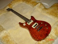 Wholesale Electric Guitars Double Cutaway - best china Custom Shop Tak Matsumoto Double Cutaway Quilt Top Brown 2nd Edition Electric Guitar
