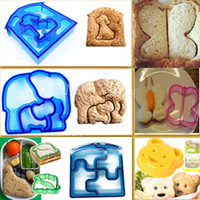 Wholesale Dog Mold Mould - Wholesale- Sandwich Cutter Bear Car Dog Elephant Shape Bread Toast Mold Mould Maker