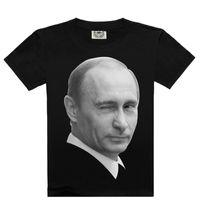 Wholesale Brand Designer Tshirts - Fashion Mens Cotton T Shirt 3D Printed President Putin Tshirts for Men Brand Designer Summer Short Sleeve Tee Shirts Tops for Lovers