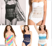 Wholesale Hot Items Europe - 2017 Europe and American new sexy HOT item conjoined hollow yarn bikini swimwear fashion bathing suit environmental protection fabric