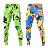 Wholesale Sports Leggings For Men - Fitness Men 2017 Sports Compression Tights Spandex Running Skinny Leggings Army Camouflage Pants Gym Clothing For Joggers