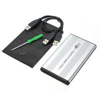 pc sabit diskler toptan satış-Toptan-Yepyeni Sıcak Şerit USB 2.0 2.5 inç 44pin HD IDE Sabit Disk Sürücüsü HDD Harici Kılıf Muhafaza Kutusu Mac OS Laptop Notebook PC için