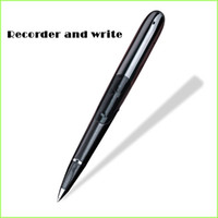 Wholesale Professional Stylus - Wholesale- Recording Pen 8gb Professional Mini Voice Recorder Stealth Smart Hd Remote Noise Reduction Class Stylus Can Write Silent Screen