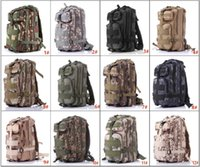 Wholesale Design Men Camping Backpack - 12 Designs 3P Hiking Camping Bag Military Tactical Trekking Rucksack Backpack Camouflage Molle Rucksacks Attack Backpacks DHL FEDEX free