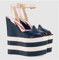 Wholesale Sexy Low Wedge Sandals - New sandalias plataforma summer shoes chaussure femme talon scarpe donna tacco alto sexy wedges shoes for women Peep Toe sandals