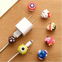 Wholesale Cord Sleeves - Cartoon Cable Protector Data Line Cord Protector Protective Sleeves Cable Winder Cover For iPhone 7 Plus 6 5 4 4S USB Charging Cable