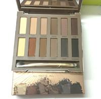 palette grundlagen farbe lidschatten großhandel-Gratis Versand ePacket! HEISSES neues Make-up ULTIMATE BASICS Lidschatten matt Farben Matte 12 Color EyeShadow Palette