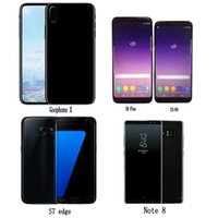 Wholesale Wireless Free Android Smartphone - Free DHL Goophone S8 plus Note 8 S7 edge X i8 plus android Quad Core Smartphone show Octa 64GB 4G LTE Unlock Cell Phones Sealed box