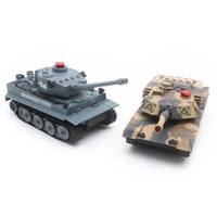 Wholesale Tank Battle Set - Wholesale- HUANQI H508 - 10 Simulation Two Infrared Radio Remote Control Twin Battle Tank Set For Children Boy Gift
