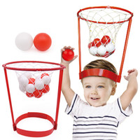 Wholesale 2017 funny Outdoor Fun Kids Head Basketball Hoop Game Circle Shot Plastic Basket Parent Child Interactive Toys Hat