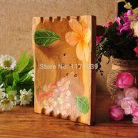 Wholesale soapbox soaps resale online - New Design Creative Fashion Manual Soap Dishes Thailand Teak Soap Box Bathroom Solid Wood Soapbox J