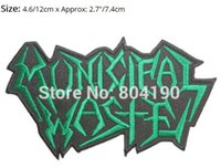 "Wholesale Heavy Sewing - 4.6"" MUNICIPAL WASTE Logo Music Band Iron On Sew On Patch Heavy Metal Tshirt TRANSFER MOTIF APPLIQUE Rock Punk Badge Wholesale"