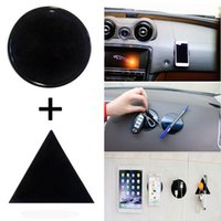 Wholesale Sticky Pad New - New 2Pcs bag Fixate Gel Pad Strong Sticky Anti Slip Mat Car Dashboard wall Sticker Pad Mat Powerful Silica Car Mobile Phone Holder