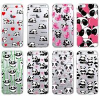 Wholesale Lover Phone Cases - Cute Panda Heart Lover Cartoon Animal Soft Phone Case for iPhone 7 7Plus 6 6S 6Plus 5 5S SE 5C 4 4S SAMSUNG