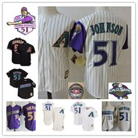 Wholesale Arizona Diamondbacks Randy Johnson Throwback retirement Patch Jersey stitched Randy Johnson World Series Baseball Jerseys S XL