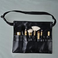 Wholesale professional case aluminum for sale - Three Arrays Makeup Brush Apron with Artist Belt Strap Leather Make Up Brush Bag Holder Professional Cosmetic Bags Cases neceser