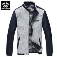 Wholesale Korean Urban Jacket - Wholesale- Patchwork Design Men Casual Silm Coats Big Size M-3XL New Arrival Korean Style Good Quality Urban Men Fashion Jackets