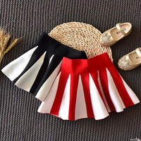 Wholesale Wholesale Cotton Maxi Skirts - Stripe Fashion Girls Skirts 2017 Spring Autumn Children Pleated Skirt Toddler Skirts Maxi Skirt Girl Dress Kids Clothing Girl Clothes A1072