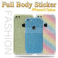 яблоко алмазная наклейка оптовых-Apple, вырезать всего тела блеск стикер алмазный шик липкая крышка тонкая пленка кожи защитники для iphone 7 6 плюс samsung s7 s6