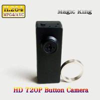 Wholesale Spy Camera Remote Controller - 720P HD Mini DV DVR Spy Button Camera Voice Video Recorder button camera with Magic Controller Remote in Retail Box Dropshipping