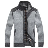 Wholesale Cardigan Styles For Men - New Arrives Winter Men's Cardigans Sweaters Mandarin Collar Casual Clothes For Men Zipper Sweater Warm Knitwear Sweater