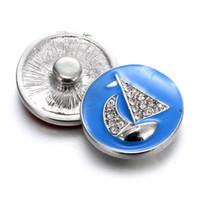 Wholesale 12 mm snap button charms resale online - 12 pcs2017 hit mm snap button charm sailing fashion jewelry necklace bracelet as the best gift