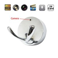 Wholesale Retail Clothing Hangers - 1080P 720P Spy Camera Clothes Hook Wall Hanger Hidden Camera DVR Video Recorder Home Security Nanny Cam Silver With Retail Package 10pcs