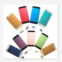 Wholesale Hard Metal Iphone5 - For iphone5 Colorful Replacement No Any Scrach A+++ Metal Back Battery Housing Cover Hard Case for iphone 5 5g 5s