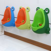 Wholesale Pee Potty - Kids PP Frog Potty Training Toilet Children Urinal for Boys Pee Trainer Bathroom Wall-mounted Training Toilet Kit