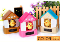 Wholesale Alarm Pistols - Creative new Cute Carton Sound Recording Cuckoo Shooting Alarm Clocks house target pistol lazy clock Home deco