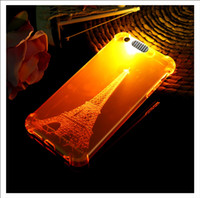 100PCS Incoming Call Flash Light Up Soft Shockproof Cell Phone Protetor Cover Case para iPhone 5 5S 7 7 6 6s Plus SJK-034