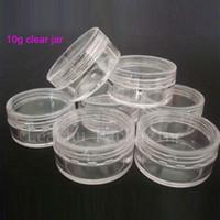 ingrosso stagno in plastica-10 g X 100 vasetti di plastica vuota per vasetti contenitori con colore trasparente per la conservazione, lattina trasparente per crema per le unghie artistiche