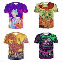 Wholesale Womens Summer Style T Shirts - 2017 Newest Fashion Mens Womens Classic Cartoon Rick and Morty Summer Style Funny Unisex 3D Print Casual T-Shirt TXQ0306