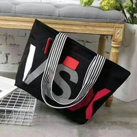Wholesale Women Handbags Chinese - VS Pink Shoulder Bags VSX Letter Handbags Large Capacity Travel Duffle Striped Waterproof Beach Bag Shoulder Bag Small Size LJJO2175