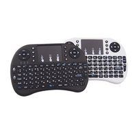 Wholesale Russian Rii Mini I8 - Rii i8+ 2.4G Wireless Russian Ver i8 with Backlight Mini Keyboard Air Mouse Touchpad Handheld