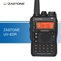 Venda por atacado - UV-8DR Three Band Walkie-talkies 136-174 / 240-260 / 400-520mhz Portable Ham CB Radio Handy Transceptor Walkie Talkie para caça