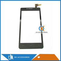 Wholesale Smartphone Replacement Glass Screens - Black Color For Prestigio MultiPhone PAP 5500 Duo SmartPhone touch screen panel Digitizer Glass Replacement