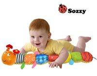Wholesale Caterpillar Music Toys - Wholesale- Baby Toy Multifunctional Music Caterpillar Height Ruler Educational Music Ring Newbron Gift Sozzy