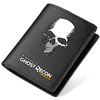 Wholesale Games Credit - Tom Clancys Ghost Recon wallet Clancy purse Tactical game short long cash note case Money notecase Leather burse bag Card holders