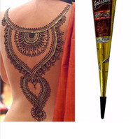 Wholesale 120 psc g India Edition Authentic Original HENNA Imports Henna Natural Jet Black Plant Henna Temporary Tattoos Painted Cream