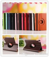 Wholesale 360 Degree Rotation Smart Stand PU Leather Case Cover For Apple ipad Pro Retina Samsung galaxy Tab3 LG V495