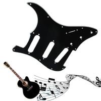 Wholesale Strat Pickguard Ply - Wholesale- 1PC 3 Ply Electric Guitar Pickguard Scratch Plate For Strat Stratocaster Black Guitar Parts