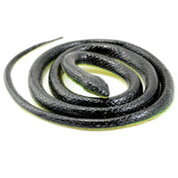 Wholesale Realistic Rubber Snake - Wholesale-130cm Realistic Rubber Snake Toy Garden Props Joke Prank Gift Wild Reptile Kid